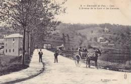 CPA - 64 - Environs De Pau - GAN - L'avenue De La Gare Et Les Coteaux - Attelage - 9 - Altri Comuni