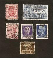 OS.1-8. Italia, LOT Set Of 6 - 1925 Espresso 1.25 Lire - 1926 75 Cent - Vittorio Emanuele III 1901 - 1942 - 1900-44 Vittorio Emanuele III