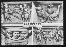 CPM Neuve CHAMPEAUX Collégiale St Martin Jeu Du Volant Dieu Soutenant Le Monde Bonnet D'Ane Patiente Sur Une Enclume - Autres Communes