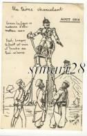 CARTE HUMORISTIQUE SUR LA 1er GUERRE MONDIAL - AOUT 1914 - UN TRONE CHANCELANT - Unclassified