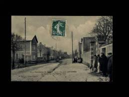 91 - CROSNE - Inondation De Janvier 1910 - Le Petit Crosnes - La Route Envahie Par Les Eaux - 33 - Crosnes (Crosne)