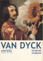 """België - Antwerpen/Anvers ´99 - Anthony Van Dyck """"Zelfportret Met Een Zonnebloem"""" (1632) - Beroemde Personen"""