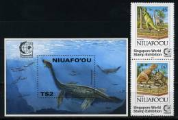 Niuafo'ou 1995 Dinosaurs Fish Marine Life MNH - Prehistorics