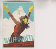 F.ta Musani - Cartolina Vallee D´Aoste Val D´osta Turismo - Pubblicitari