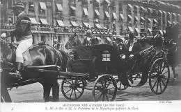 Roi Alphonse XIII à Paris : Roi Et Loubet Quittent La Gare. 2 Scans - Eventos