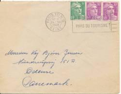 France Cover Sent To Denmark Paris 24-6-1949 - France