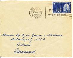 France Cover Sent To Denmark Paris 9-7-1949 - France