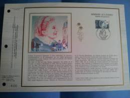 Feuillet FDC CEF France N° 765 Soie - 08 03 1985 Hommage Aux Femmes Pauline Kergomard - 1980-1989