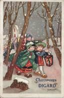 CPA Publicité Chaussures DIGARD - REIMS - Illustration M. VANASEK - Publicité
