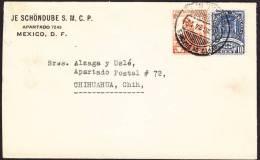 R)1934 MEXICO, DEPARTAMENTO DE BUZONES SEAL, INDIAN MOTHER AND CHILDREN STAMP. CIRCULATE COVER: - Mexico