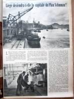 """Magazine Avec Articles """"Liége Capitale Du Plan Schuman ?, La Corée"""" 1952 - Old Paper"""