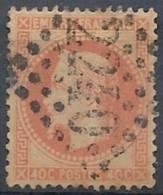1862-70 FRANCIA USATO NAPOLEONE EMPIRE FRANCAIS 40 CENT - FR457-4 - 1863-1870 Napoleon III With Laurels