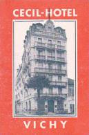 FRANCE VICHY CECIL HOTEL VINTAGE LUGGAGE LABEL - Hotel Labels