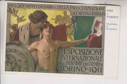 50 ° Anniversario Della Proclamaziione Del Regno D´Italia Esposizione Torino 1911 - F.to Carpanetto - Esposizioni