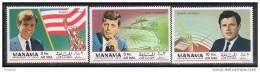 K7627-  Set MNH MANAMA 1969- Kennedy Brothers - Kennedy (John F.)