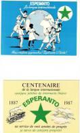 2 CPM ESPÉRANTO  GROUPE D'ACTION POUR L'ESPERANTO L'ÉCOLE LE MONDE CENTENAIRE - Esperanto