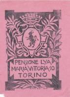 ITALY TORINO PENSIONE LYA MARIA VITTORIA VINTAGE LUGGAGE LABEL - Hotel Labels