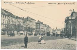 WARSZAWA.  Krakowskie-Przedmiescie.  VARSOVIE. Faubourg De Cracovie.  Nakladem A. Chlebowski I S-ka. - TRAM - Poland