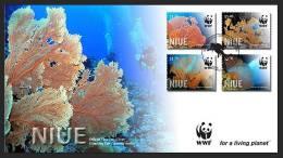 NIUE -2012 - Faune Marine, Coraux WWF -  FDC - Niue