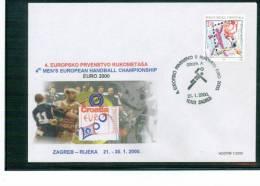 Kroatien / Croatia 2000 Europa Handballmeisterschaft Sonderstempel - Handball