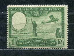 Spain 1930 Mi 559 I MvLH Portrait  Of Lindenberg Is Omitted  ERROR - Oddities On Stamps