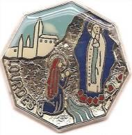 Ville_LOURDES_Bernadette & La Vierge Marie_Signé   Béraudy-Vaure_Superbe - Cities