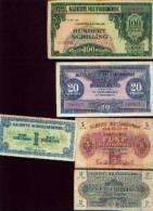 Autriche - Allierte Militärbehörde 1944 - Lot De 5 Billets - Autriche
