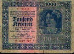Autriche - Hongrie - 1000 Couronnes 1922 - Autriche
