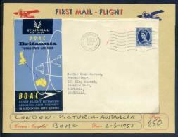 AUSTRALIA - FIRST FLIGHT LONDON/VICTORIA - V6194 - First Flight Covers
