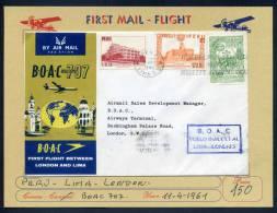 PERU - FIRST FLIGHT LONDON/LIMA/LONDON - V6197 - Peru