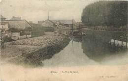 08  ATTIGNY LE PORT DU CANAL EDITION LEROY COULEUR - Attigny