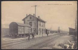 """Saulty-L'Arbret  (62-Pas-de-Calais)   """" La Gare """", 25 Décembre 1914. - France"""