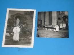 2 Photos Originales Anciennes VALENCE Drome Eleve Communiant Eglise  ST Appolinaire Voir Legende Au Dos - Valence