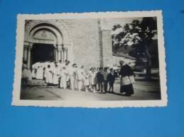 Photo Originale Ancienne 26 Drome LA CHAPELLE EN VERCORS Sortie De L Eglise Communiant 1961 - Non Classés
