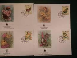 29/900I       4 FDC WWF     SAN MARINO - Schmetterlinge