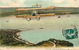 Grande Quinzaine D'Aviation Le Havre - Trouville - Deauville : Traversée De La Baie. 2 Scans. Edition LL - Meetings