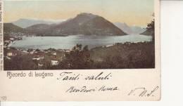 LUGANO  - SUISSE SCHWEIZ SVIZZERA- RICORDO DI LUGANO  VG 1901   BELLA FOTO D´EPOCA ORIGINALE 100% - Altri