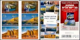 ISRAEL - 2012 - Visit Israel - Rosh Hanikra - Jaffa - Solomon´s Pillars At Timna - Booklet Of 6 S/adhesive Stamps - MNH - Holidays & Tourism