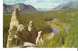 The Canadian Rockies, Alberta, Banff  The Hoodoos - Alberta