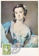"Carte-Maximum ALLEMAGNE RDA N°Yvert 303 / Rosalba Carriera, ""La Danseuse, Barbarina Campani"" - [6] Democratic Republic"