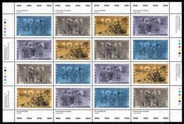 Canada MNH Scott #1348a Sheet Of 16 40c Second World War - 1941 - Full Sheets & Multiples