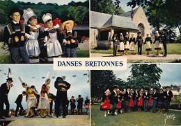 * * Pont-Aven, Quimper, Pont-l'Abbé, Scrignac * * ( Carte Vierge ) - Danses