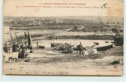 FERMANVILLE   -  Le Port Du Cap Lévy à Marée Basse,et Le Village Du Perrey. - France