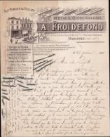 A.FROIDEFONDS, METAUX & QUINCAILLERIE A MARENNES /  CORRESPONDANCE DATEE 1901 - 1900 – 1949
