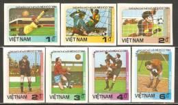 Vietnam 1985 Mi# 1633-1639 U (*) Mint No Gum - Imperf. - 1986 World Cup Soccer Championships, Mexico City - World Cup