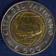 CITTA' DEL VATICANO/VATICAN CITY GIOVANNI PAOLO II 500 LIRE 1992 BB/VF #5575 - Vatikan