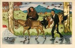 64 Au Pays Basque Sur La Route Du Marché Illustrée Par J Le Tanneur - France