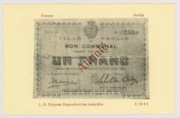 Reproduction Sur Carte : Bon Communal : Ville De SECLIN, 1914 - Guerre 14-18 *f5767 - Seclin