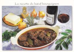 Recettes De Cuisine - La Recette Du Boeuf Bourguignon-Voir Scan Recette Au Verso -cpm, Neuve, - Recettes (cuisine)