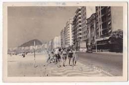 BRAZIL RIO DE JANEIRO COPACABANA FOTO CARTAO POSTAL CA1930 VINTAGE ORIGINAL POSTCARD Cpa AK (W3-0207) - Copacabana